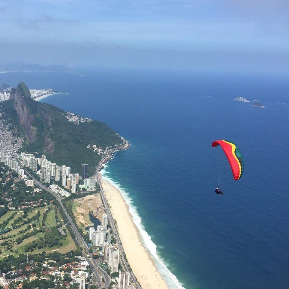 Hang Gliding in Rio Brazil