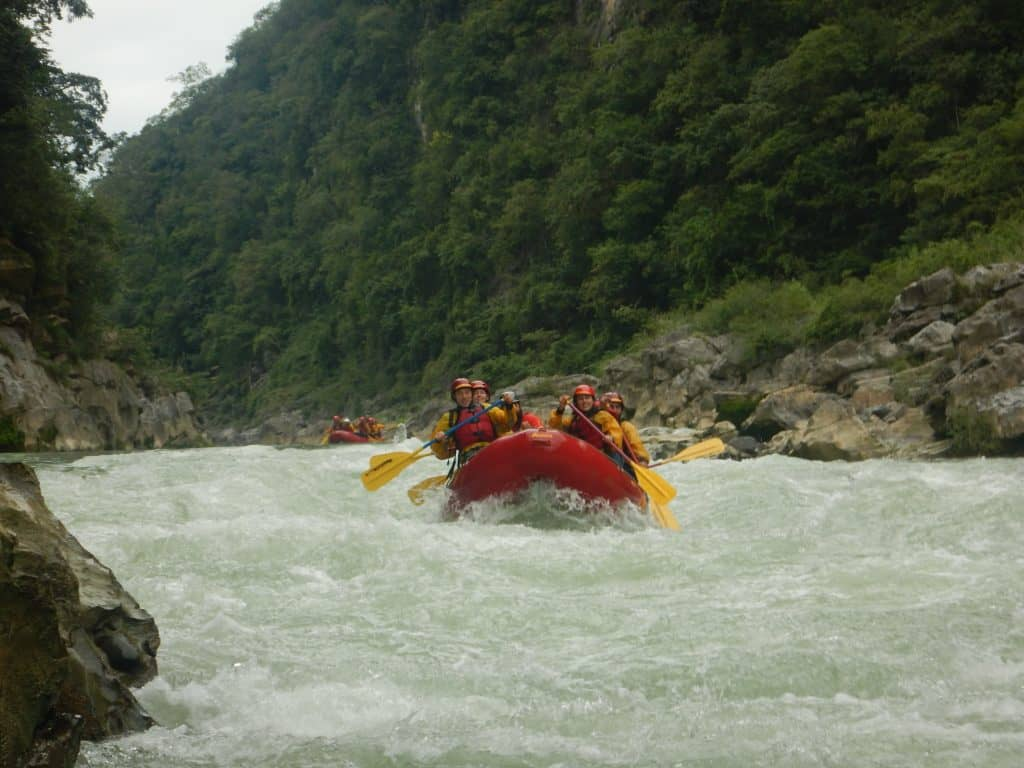 Adventure destinations in north America White Water Rafting in Pausitano Mexico