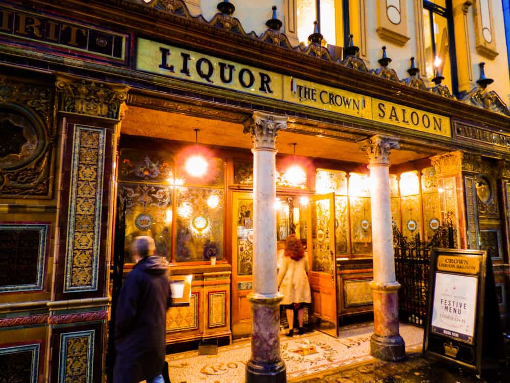Crown Liquor Saloon Where to drink in Belfast Northern Ireland