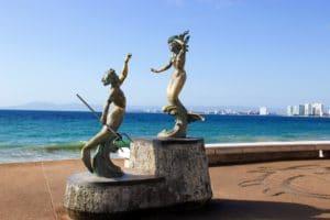 ermaids on Puerto Vallarta malecon