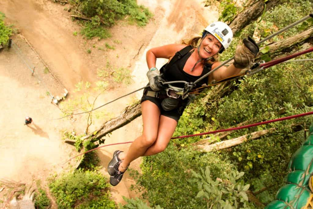 Zip lining with Vallarta Adventures
