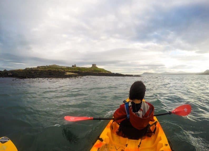 Sea Kayaking in Dalkey a day trip from Dublin