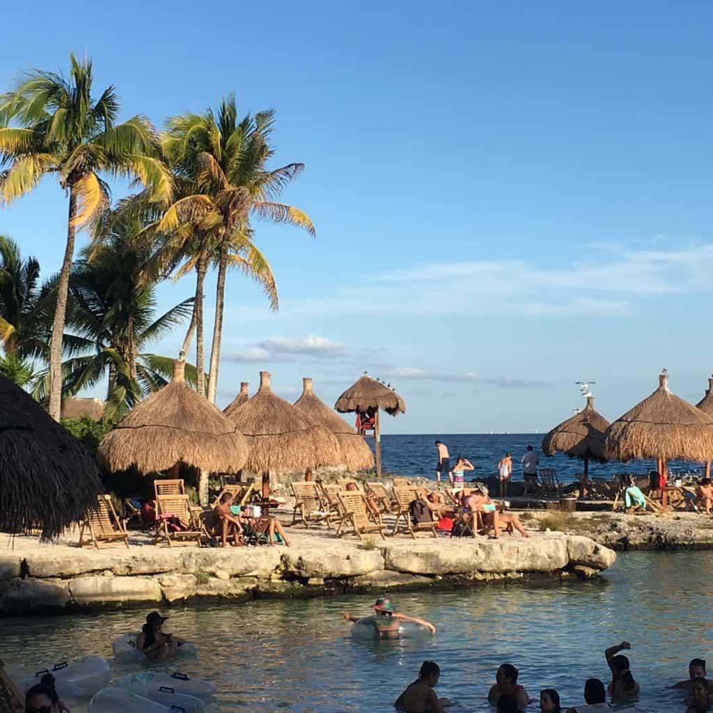 Lagoon at Xcaret  Park, Riviera Maya Mexico