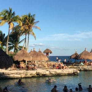 Lagoon at Xcaret eco Park, Riviera Maya Mexico