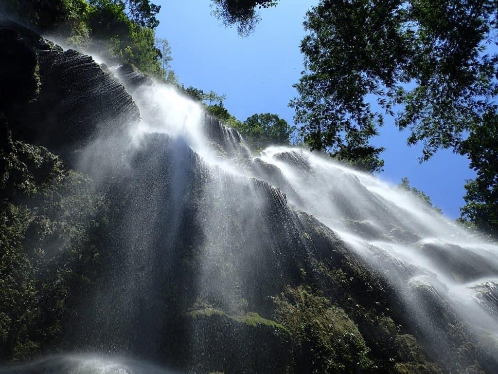 close up shot of Kawasan Waterfall