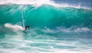 Man surfing a wave