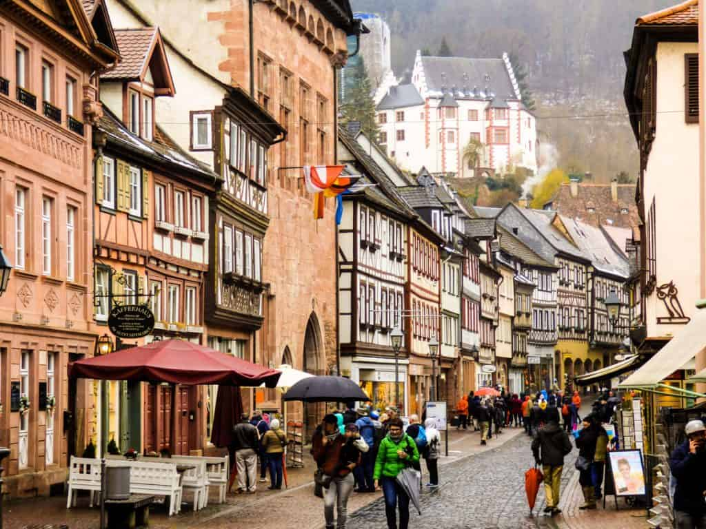 Bavarian buildings in Miltenberg Germany