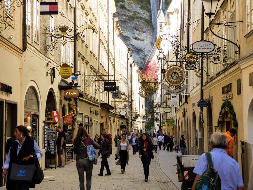 Street in Salzburg Austria