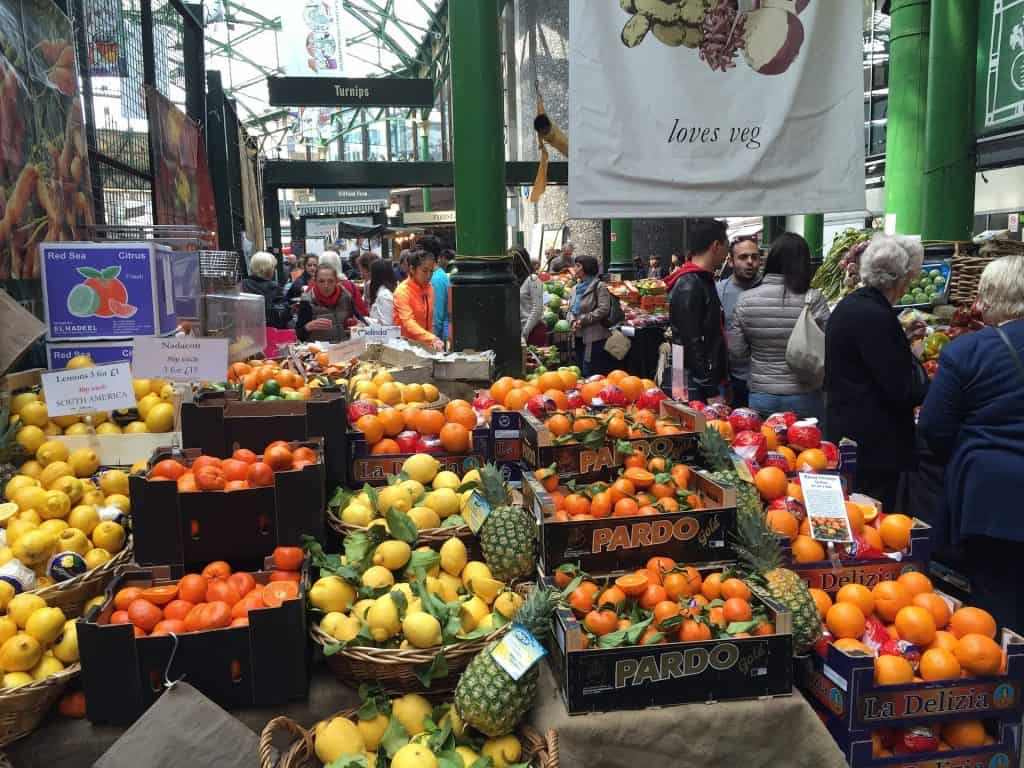 London Borough Market produce stand
