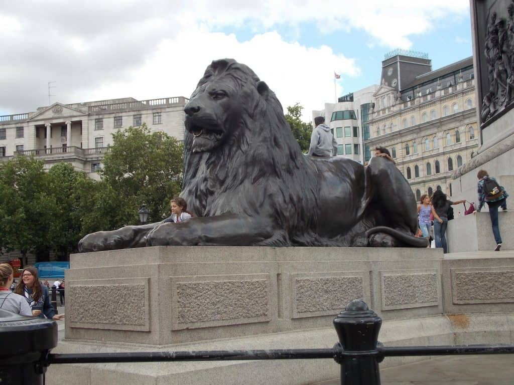 Lion Trafalgar square London