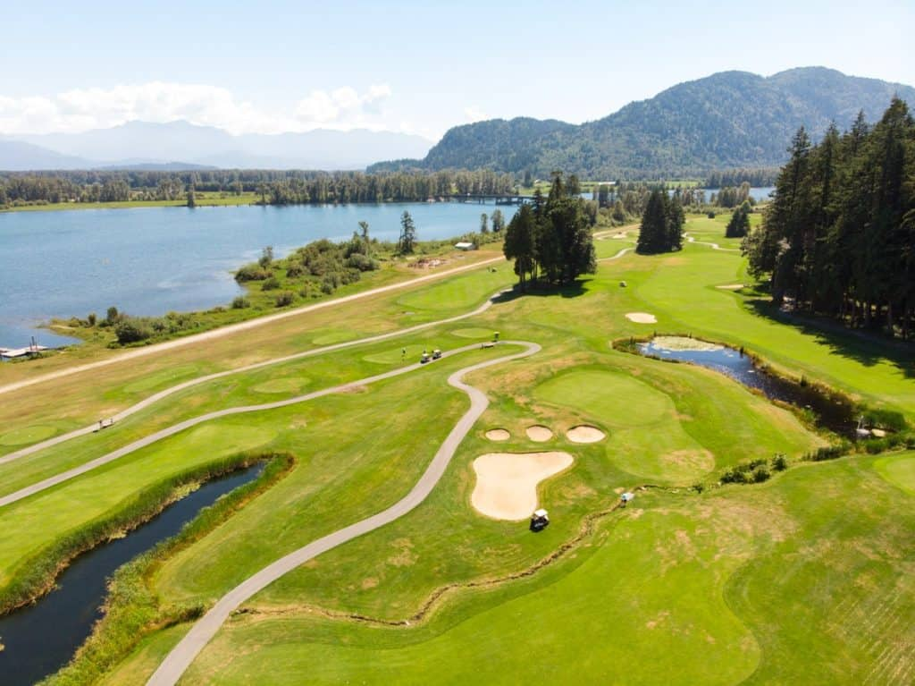 Aerial view of Sandpiper Golf Course