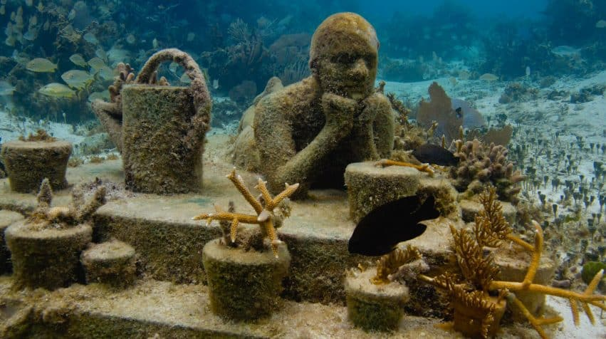 MUSA Underwater Museum in Cancun, Mexico