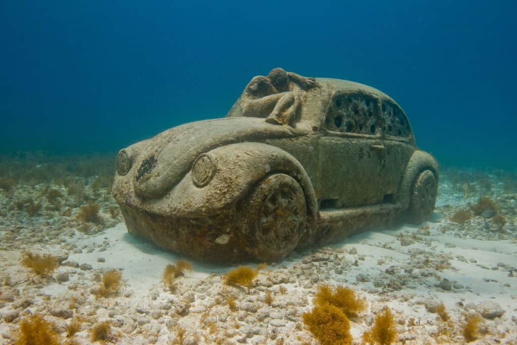 MUSA VW Beetle at MUSA Underwater Museum in Cancun