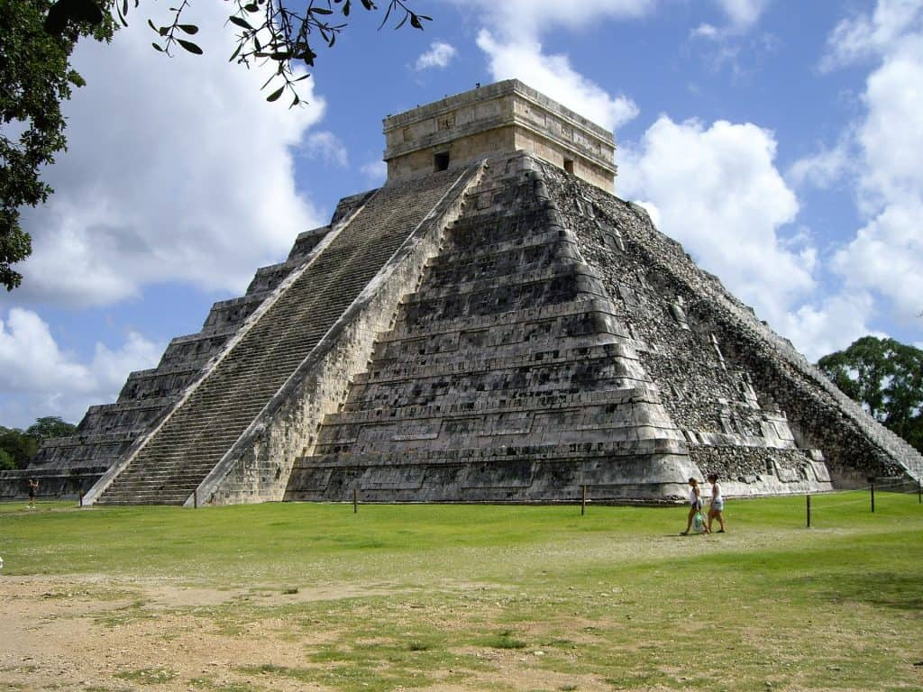 Kulkukan Temple Chichen Itza ruins in the Yucatan Mexico
