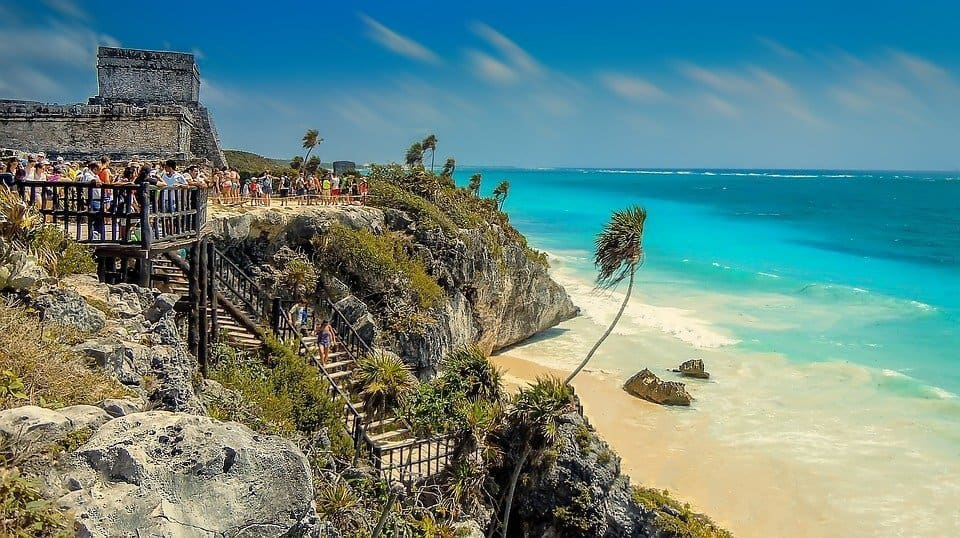 Tulum ruins in the Yucatan
