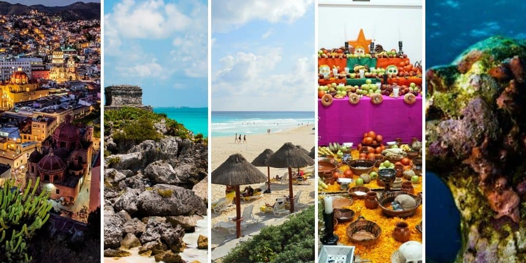 Reasons to visit Mexico Collage
