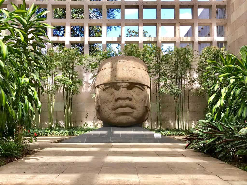 Olmec head at museum in Xalapa Veracruz Mexico