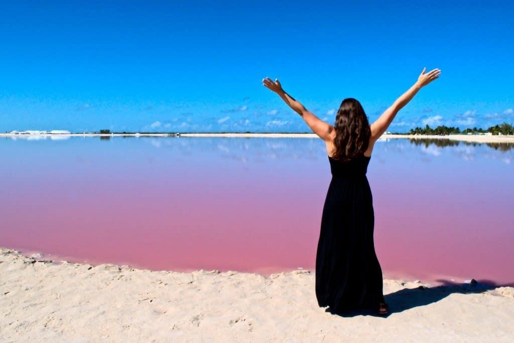 pink-lakes Los Colarados Mexico