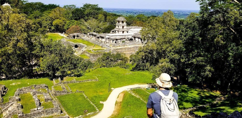 View of Palenque ruins