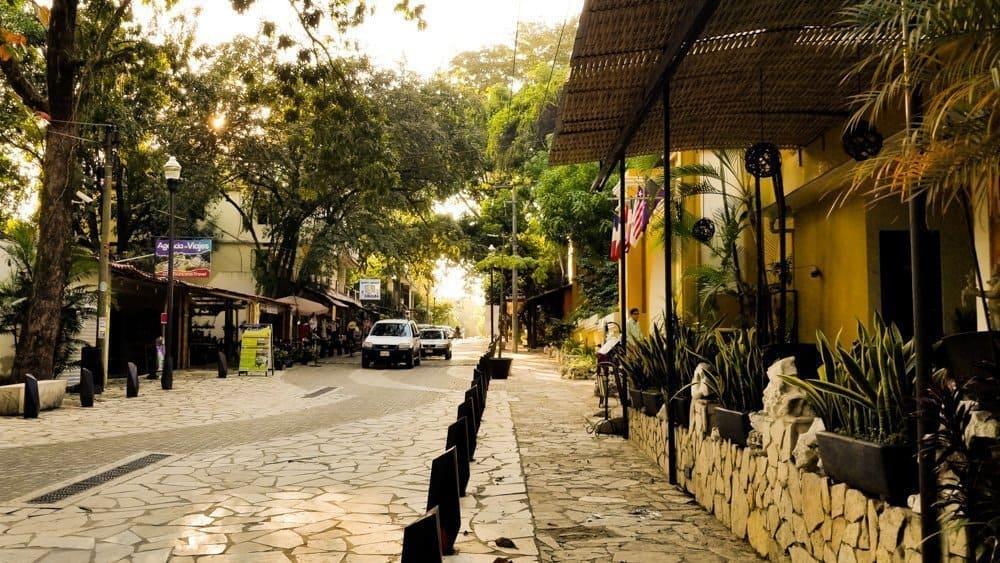 La Cañada street in Palenque Chiapas