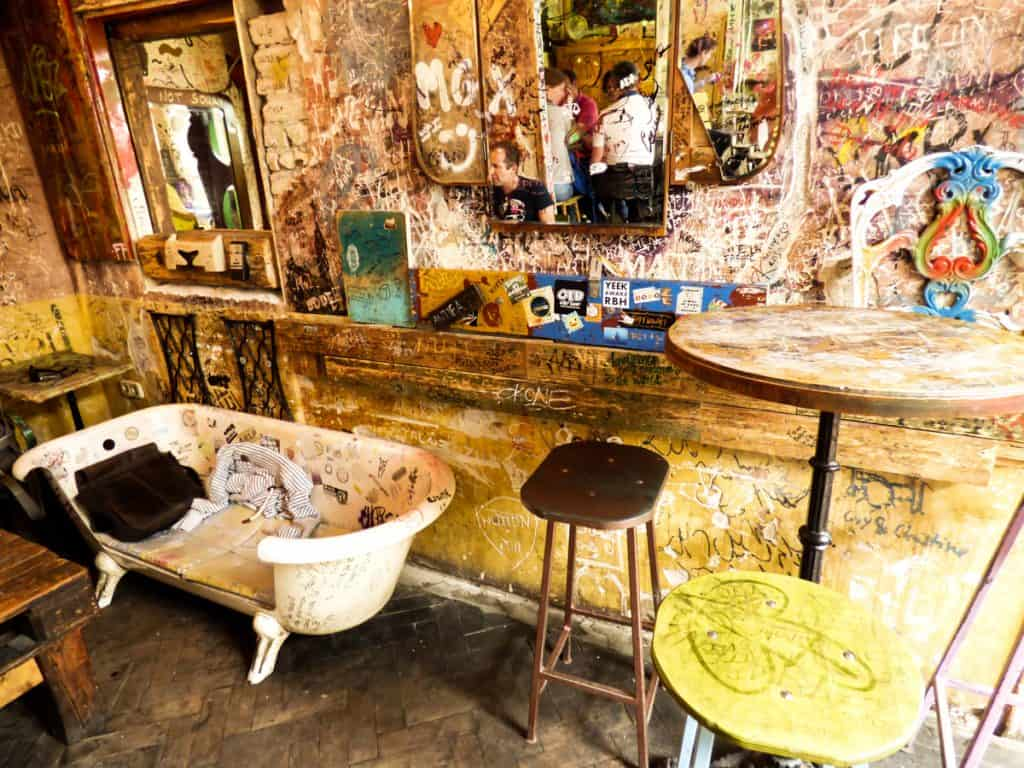 Unique things to do in Budapest: visit a ruin bar