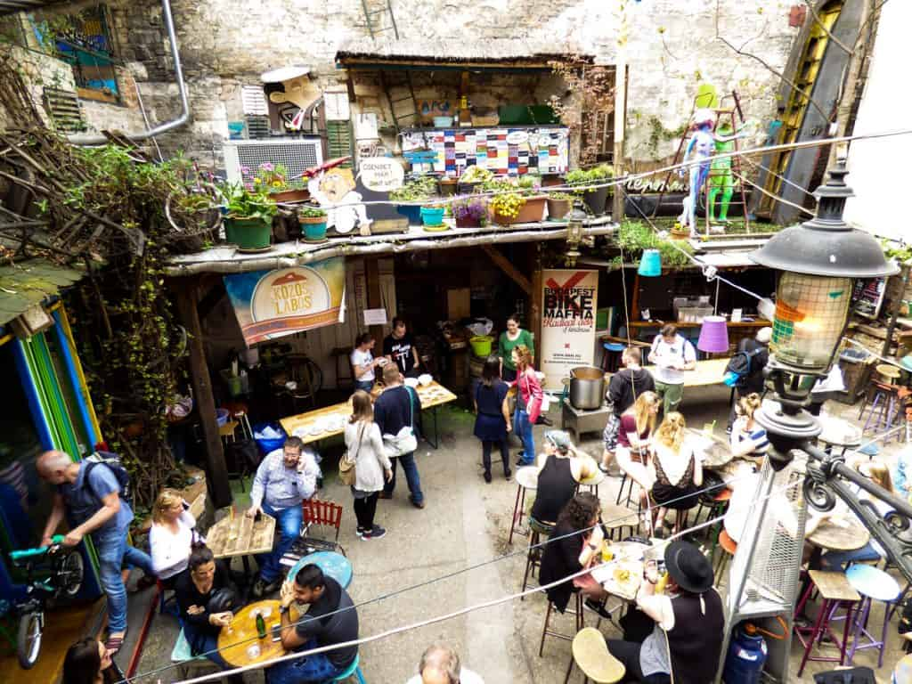 Unique things to do in Budapest: Sunday Market at a ruin bar