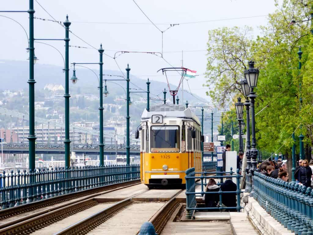 Fun and unusual things to do in Budapest: Tram 2 scenic ride