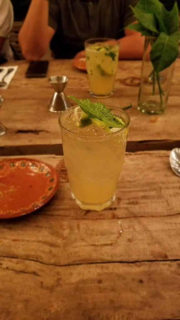 Traveler's Table Yucatan food experience Mayan Mojito