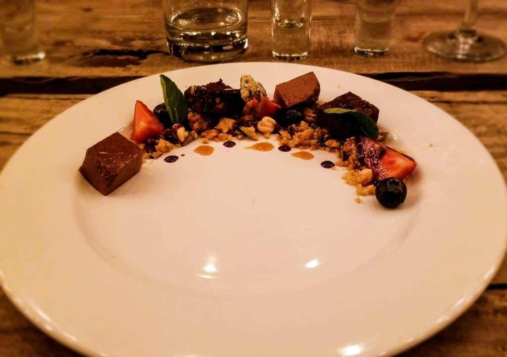 Traveler's Table Yucatan food experience chocolate dessert