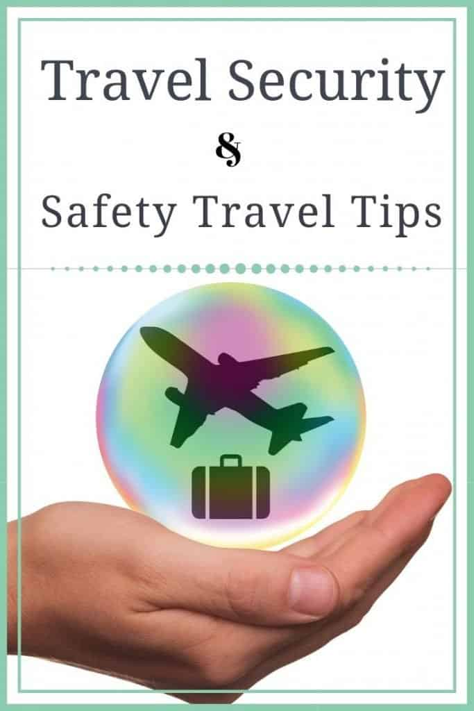 Travel Security Safety Tips for Travel Pin
