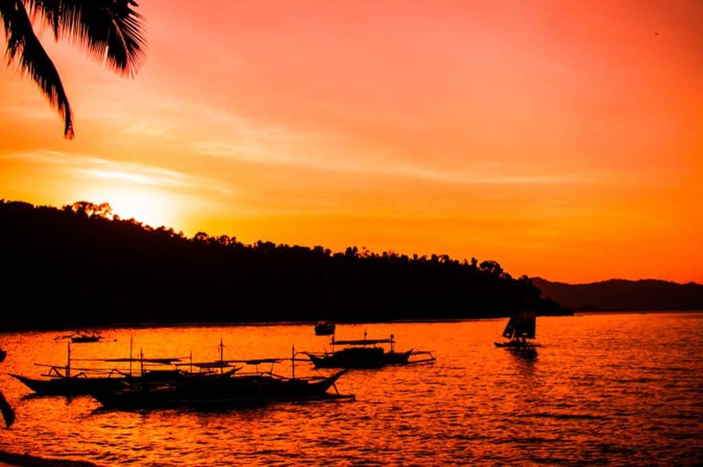 Sunset from Port Barton Beach