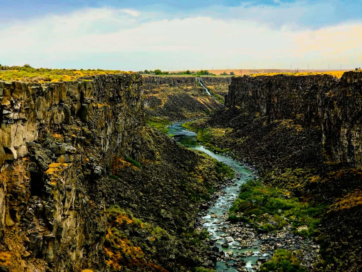 Aerial view of Snake River Canyon