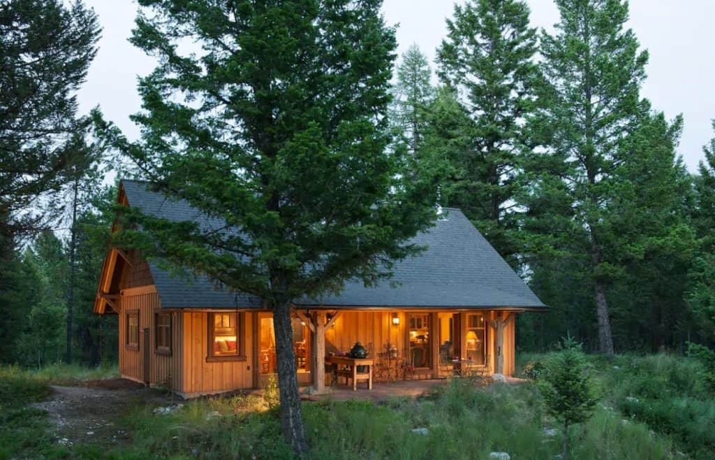 Whitefish cabin in the woods