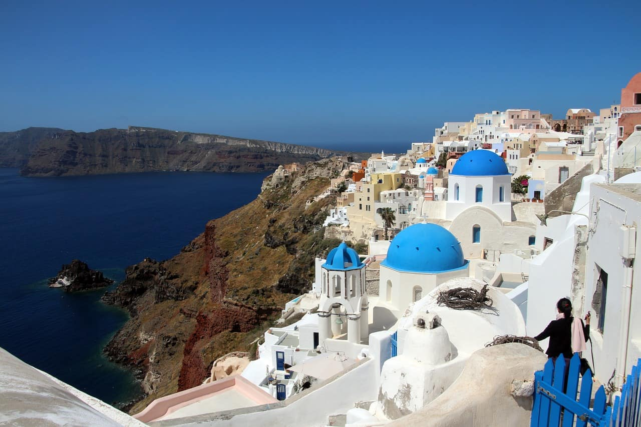 Santorini Greece Best winter sun destinations in Europe