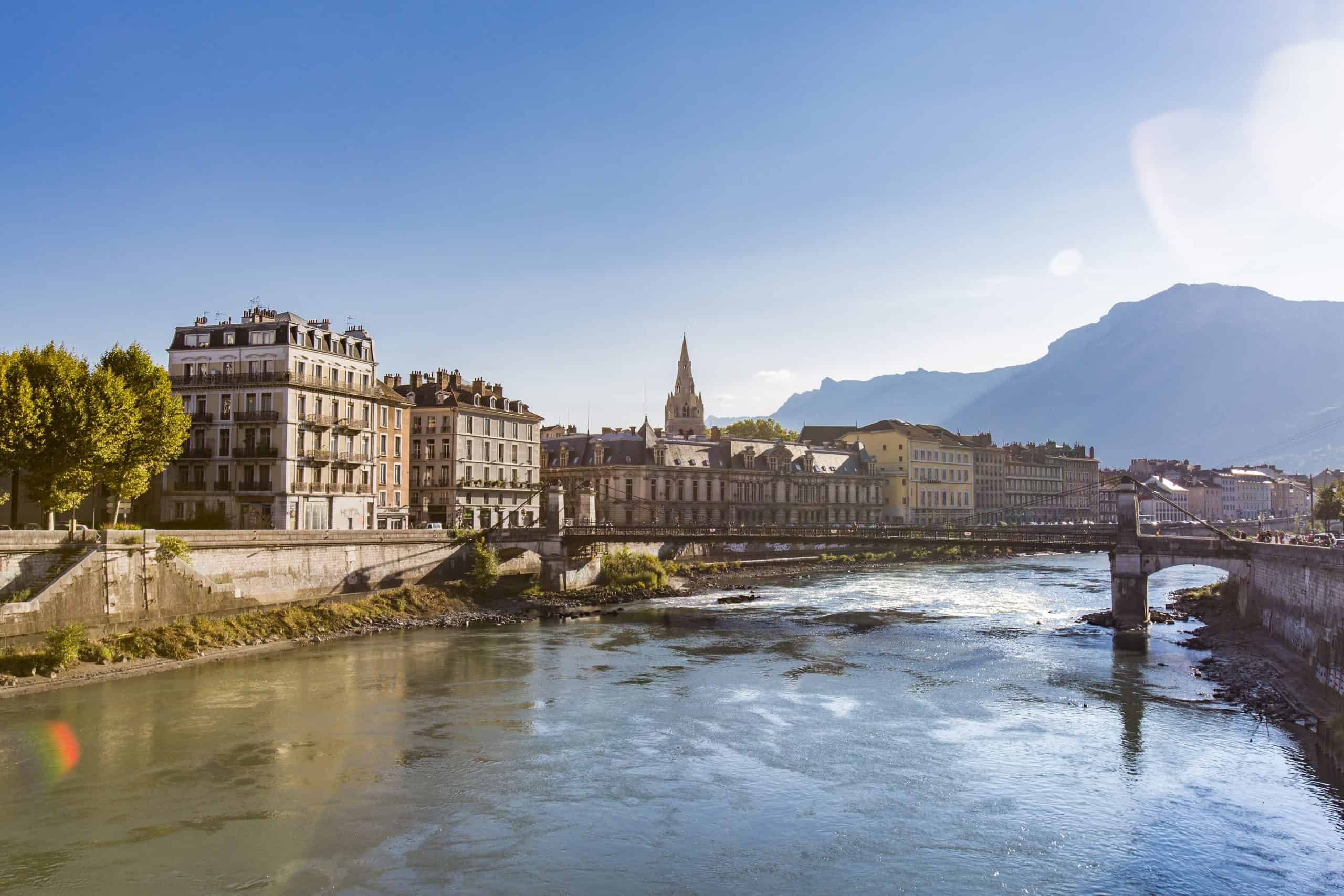 View of Grenoble city, one of the best weekend trips from Paris