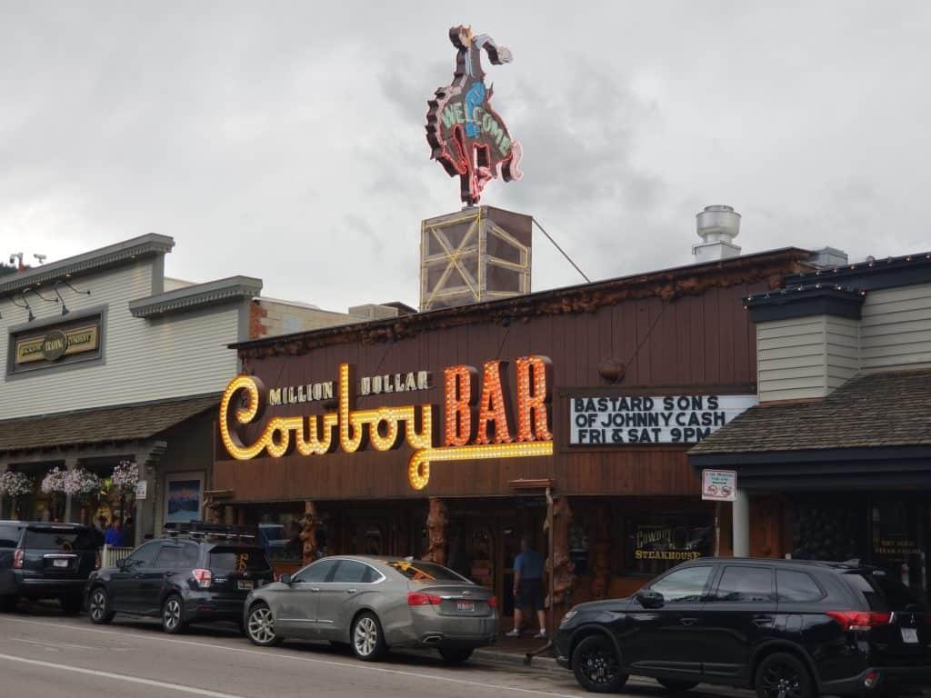 Entrance to Million Dollar Cowboy Bar