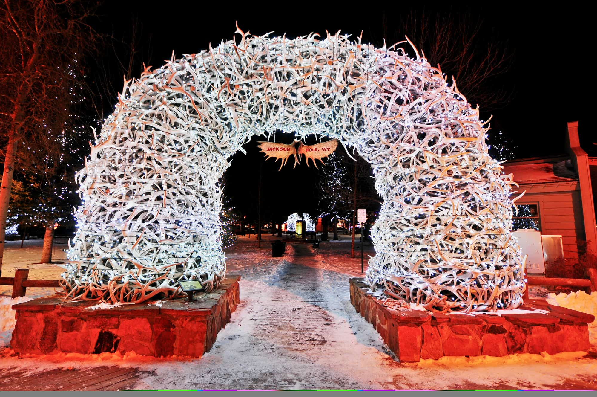 Antler Arches Jackson Hole in Winter