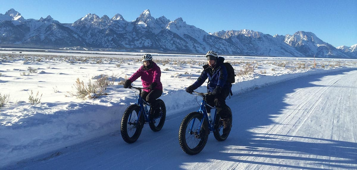 People riding fat tire bikes