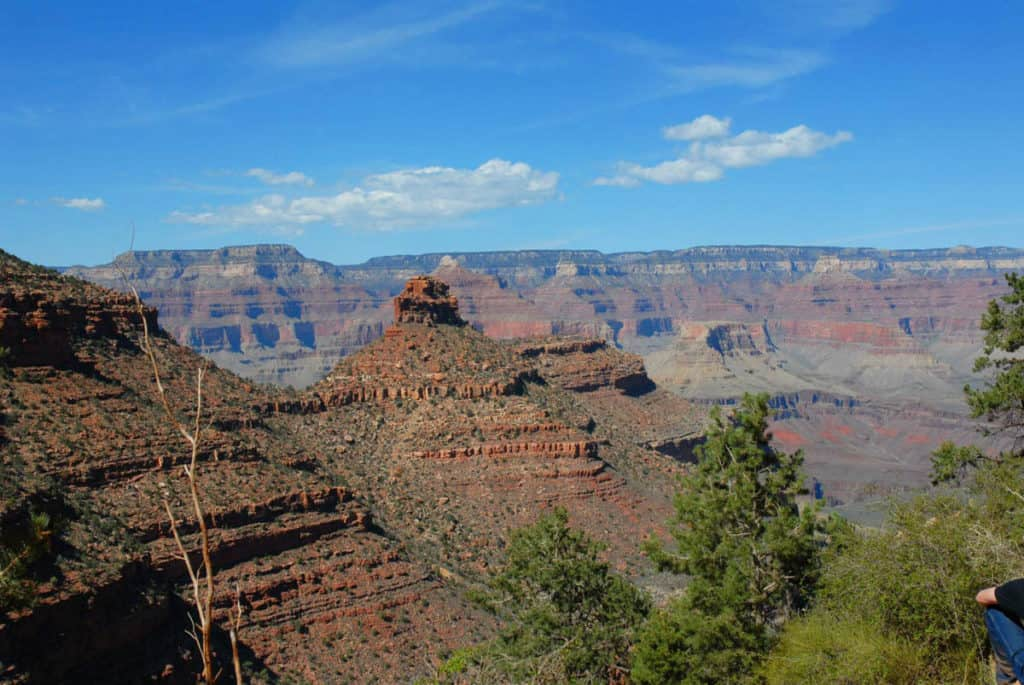 View of red rocks in Grand Canyon National Park USA