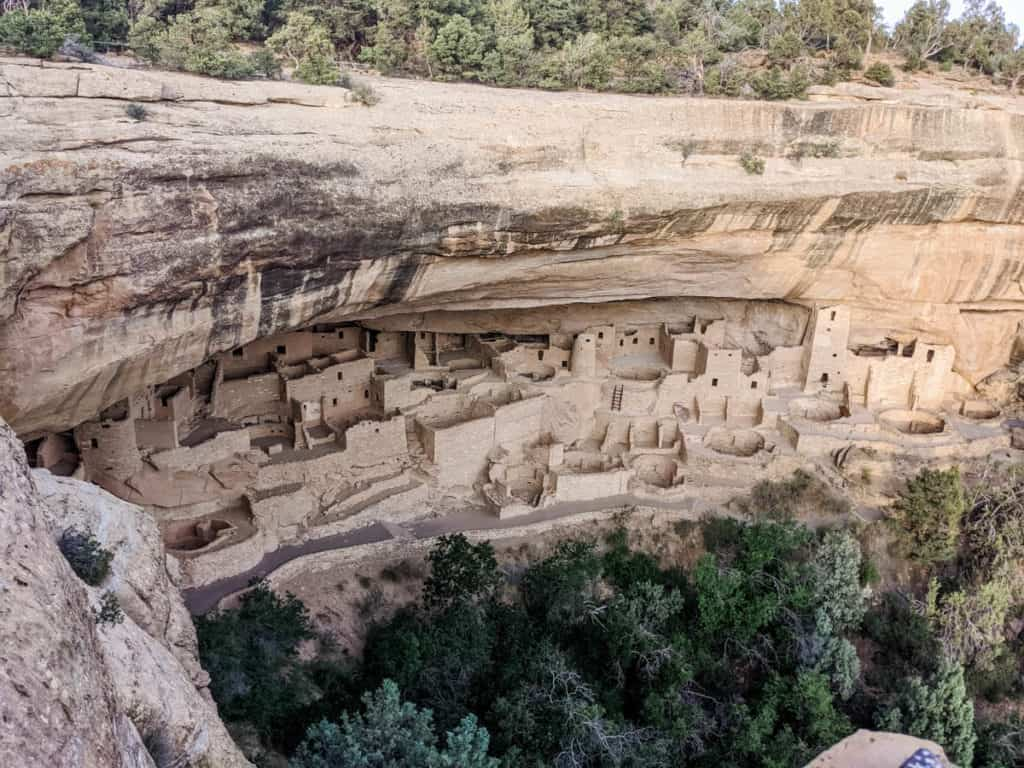 View of rocky canyon at Mesa Verde National Park