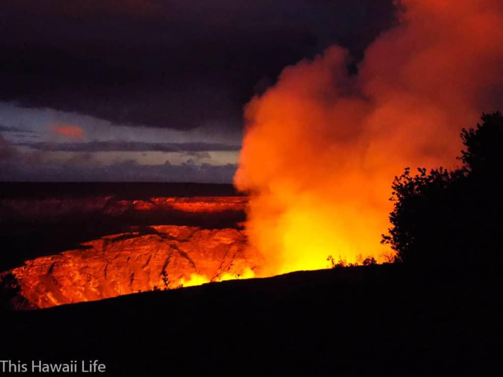 Fiery volcanoe lava